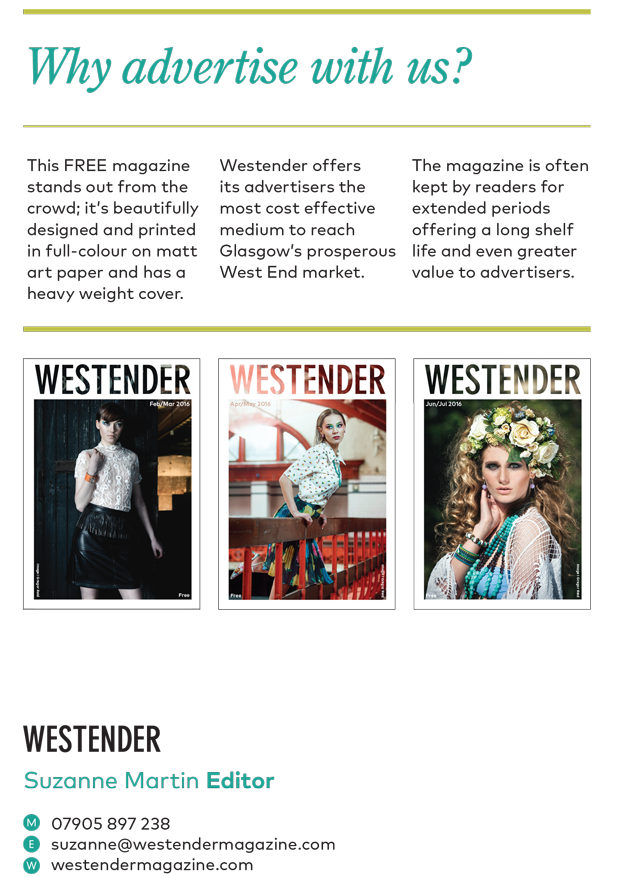 Westender Magazine Advertisement Rates